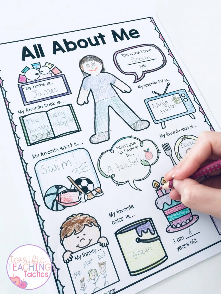 BACK TO SCHOOL ACTIVITIES - all about me worksheet