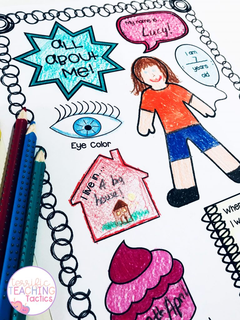 BACK TO SCHOOL ACTIVITIES  -  all about me the first day of school