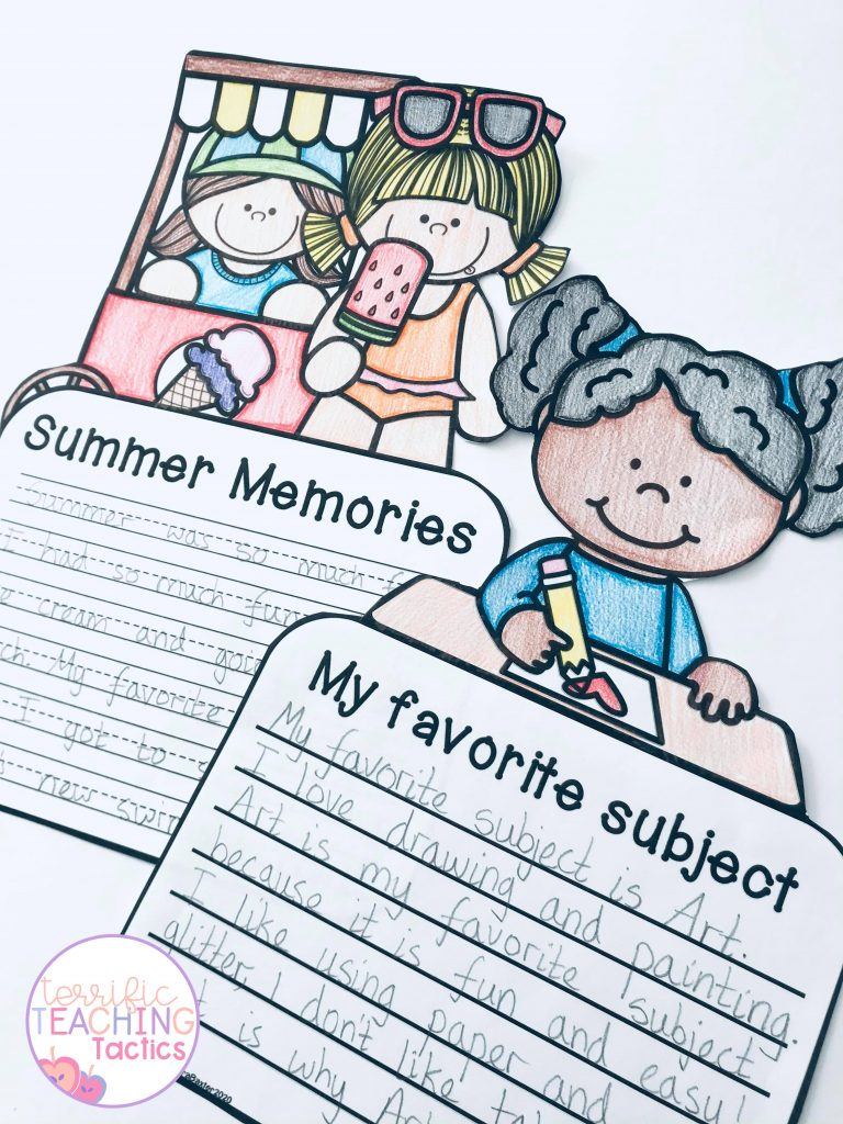 back to school august writing prompts - writing crafts for summer and fall
