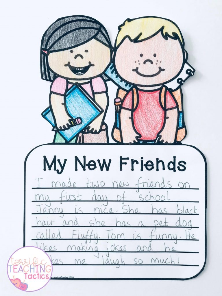 back to school activities - writing crafts writing prompt for the first day of school recount