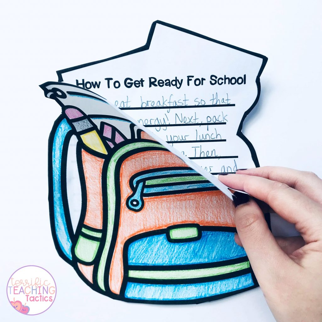 how to writing prompts - procedure writing  art activities for kids.