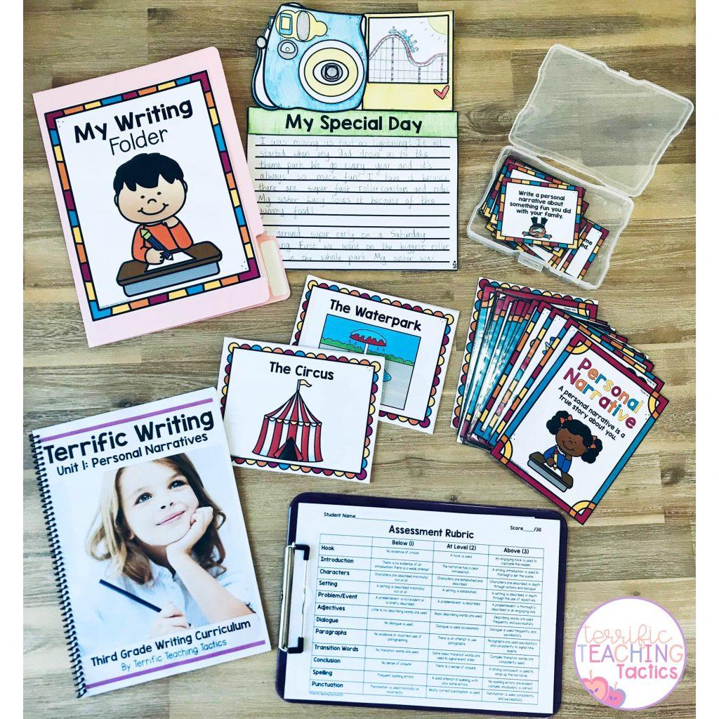third grade personal narratives writing curriculum