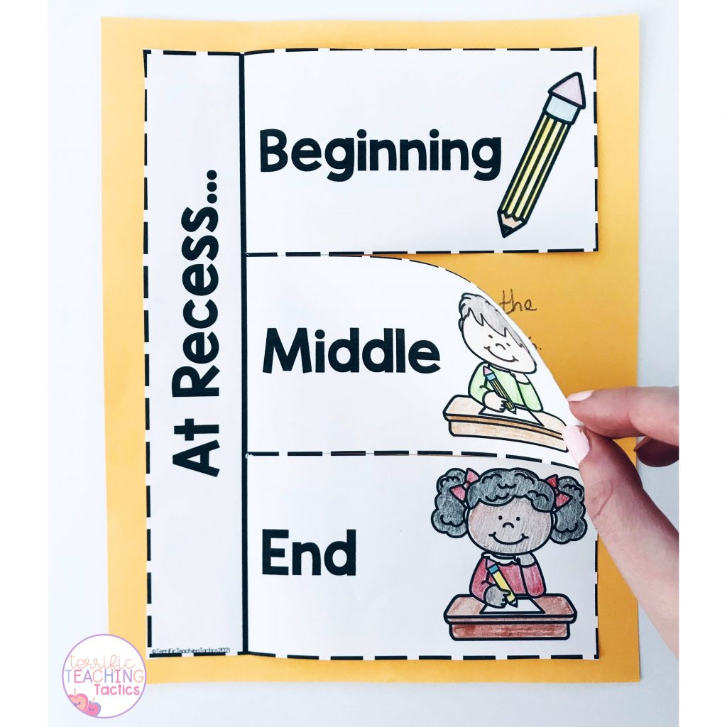 interactive notebook beginning middle end narrative