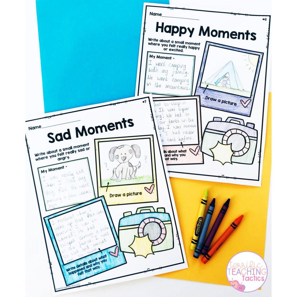 small moments narrative writing