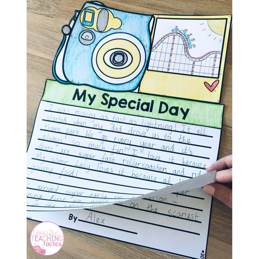 writing craft flipbook craftivity for bulletin board