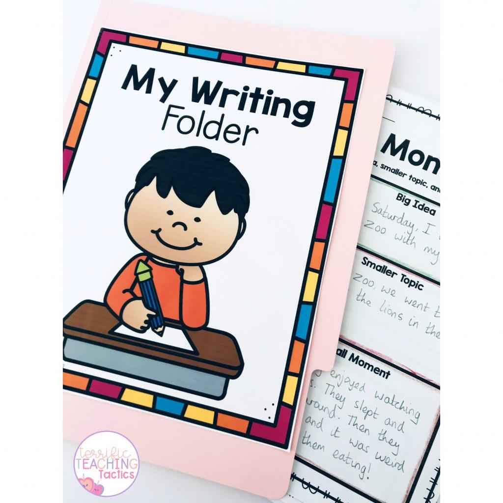 3rd grade writing folder