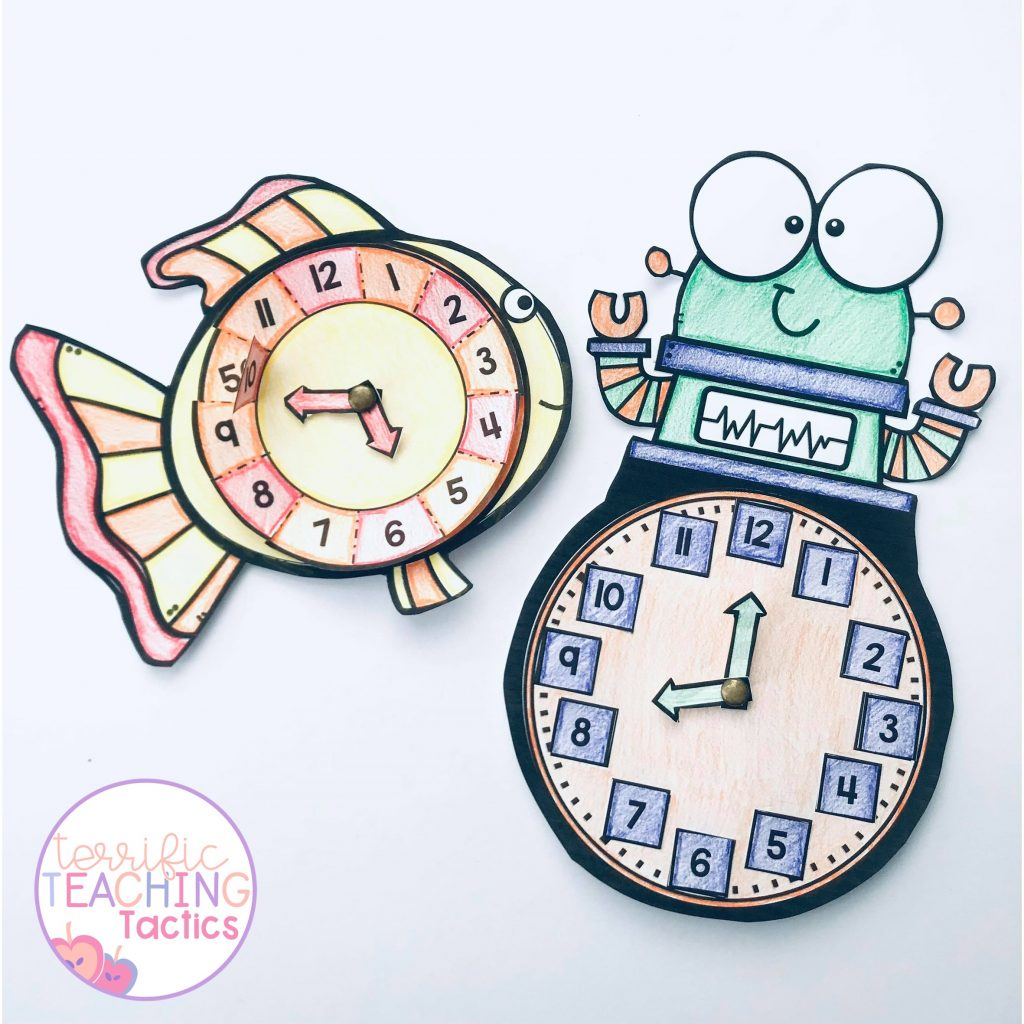 free clock crafts for teaching time