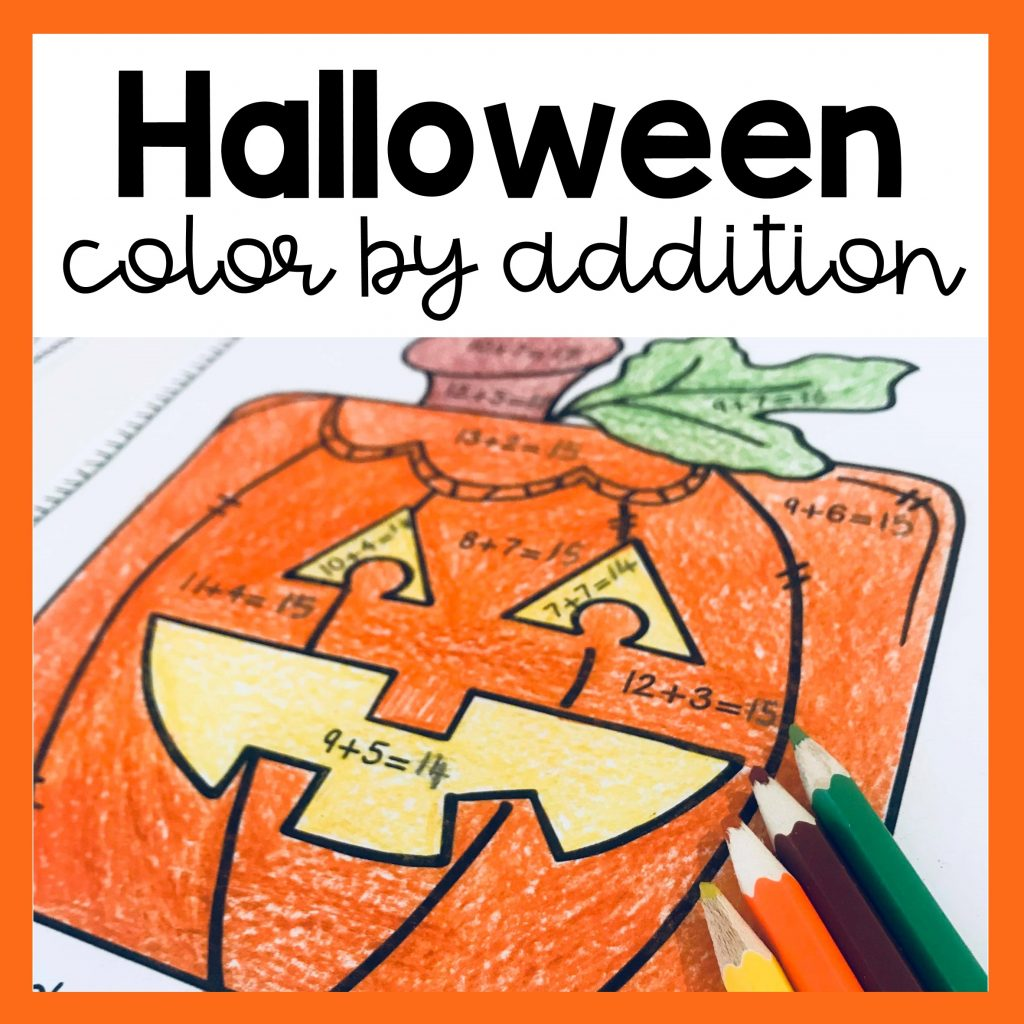 Halloween Color By Addition