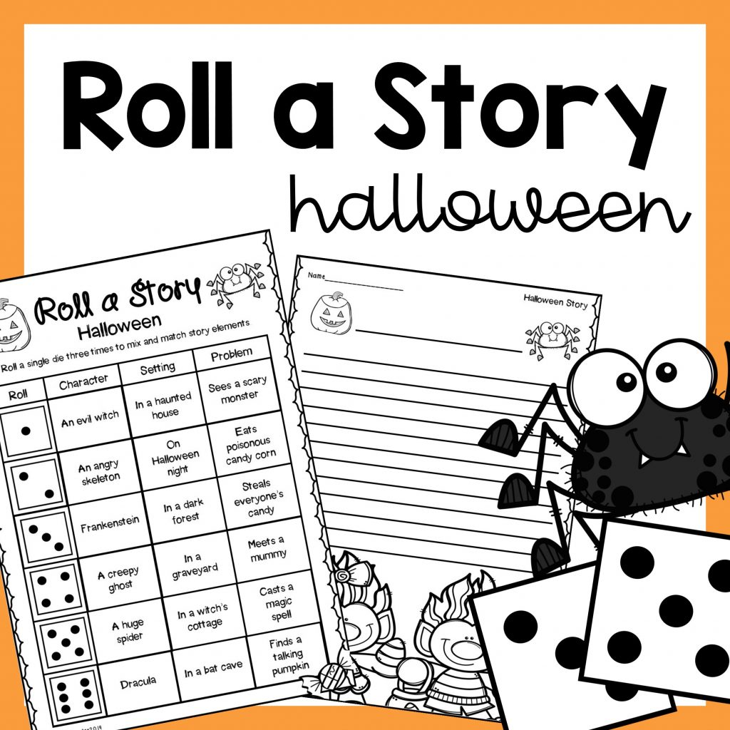 Halloween Roll A Story Writing Prompt