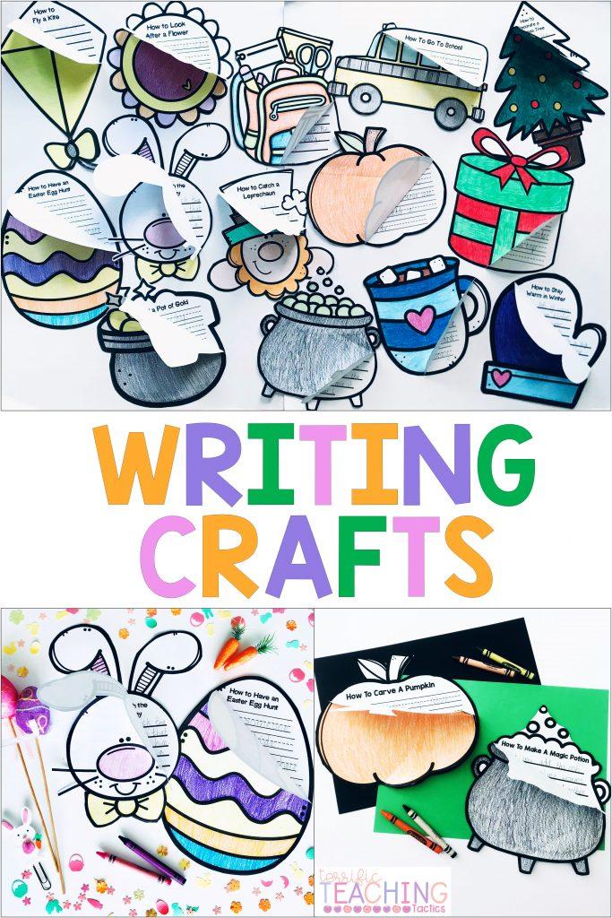 seasonal holiday writing prompts art activity craftivity flipbook