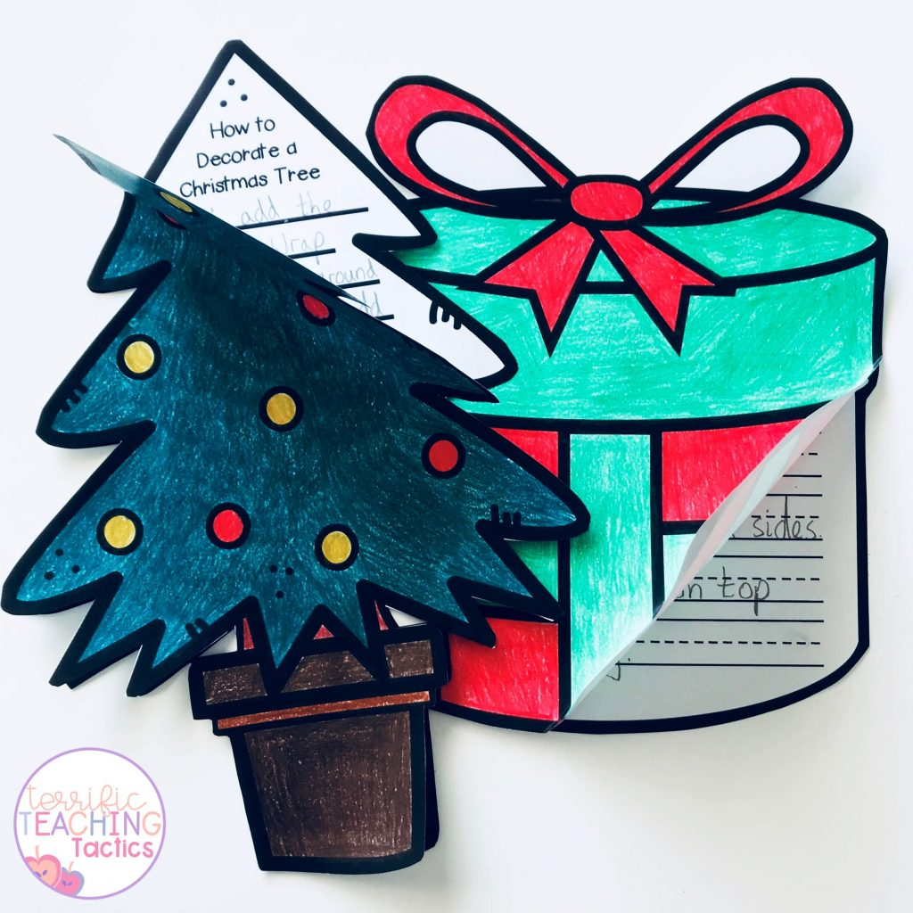 christmas writing prompt and craftivity
