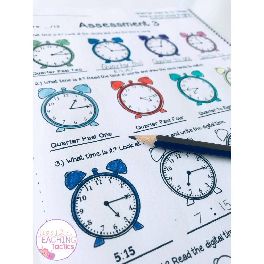 tellling time quarter past and quarter to worksheets