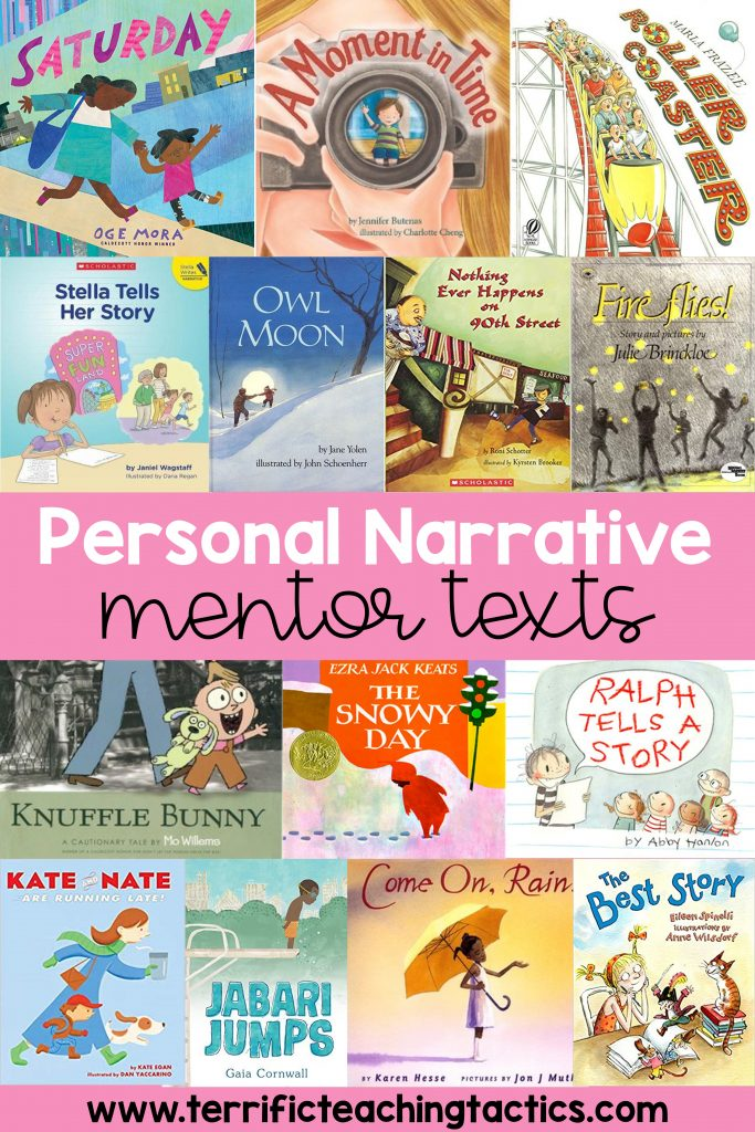 the best mentor texts for teaching personal narratives!